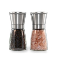 Premium Stainless Steel Salt & Pepper Grinders Includes 500g Salt